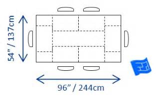 Standard Dining Room Table Size Metric by Dining Table Size