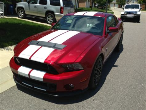 ruby red  ford mustang shelby gt  coupe