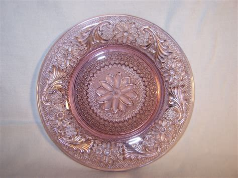 depression glass salad plate depression glass indiana sandwich pink