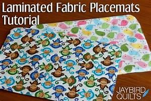 Laminated Fabric Placemats Tutorial   Jaybird Quilts