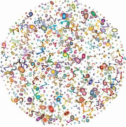 Random Clipart Numbers Background Cloud Sprinkles Number