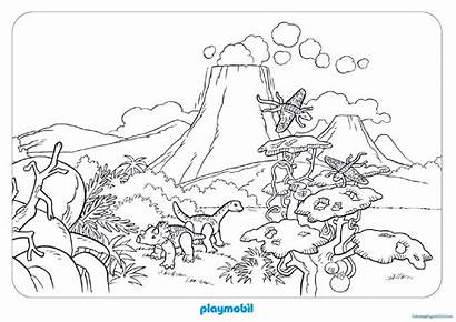 Playmobil Coloring Dinosaure Pages Dessin Colorier Imprimer