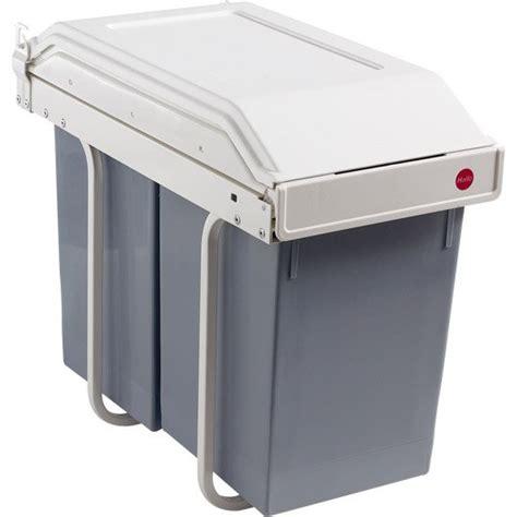 poubelle de porte de cuisine poubelle à intégrer multi box 2x15l gris hailo