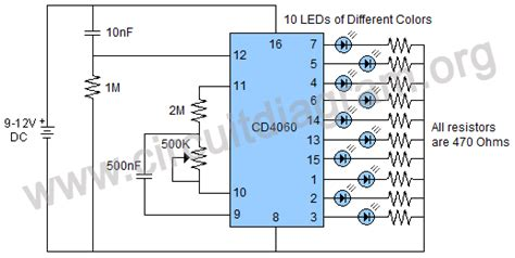 Multiple Timing Flasher Circuit Diagram