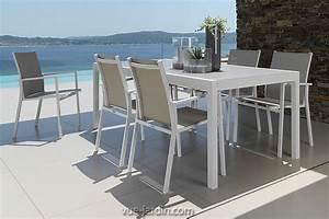Table Aluminium Extensible : table de jardin 200cm extensible 300cm en aluminium et verre maiorca de talenti ~ Teatrodelosmanantiales.com Idées de Décoration