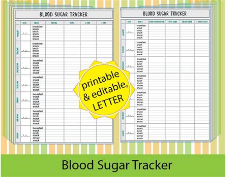 Generous Blood Sugar Template Images Resume Ideas