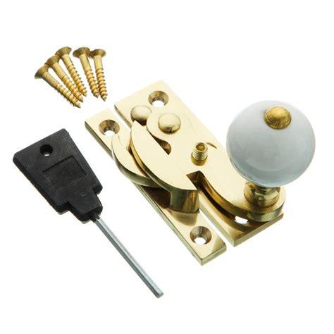 sash window hardware hooklock ceramic locking polished brass mighton products
