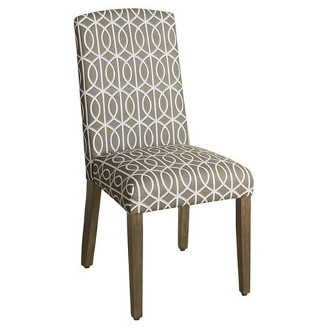 arched back parsons dining chair set of 2 homepop target