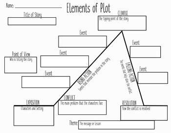 Plot Chart Graphic Organizer By Sara Chadwick Teachers