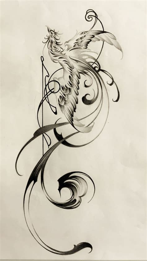 phoenix tattoo design ideas  pinterest