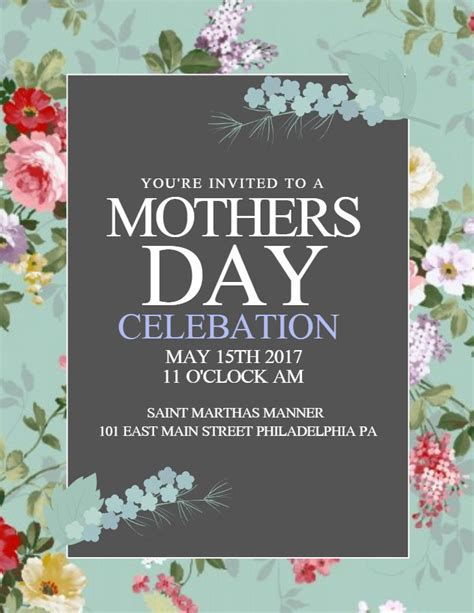 mothers day lunch celebration poster design click