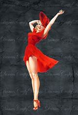 Pin up girl red
