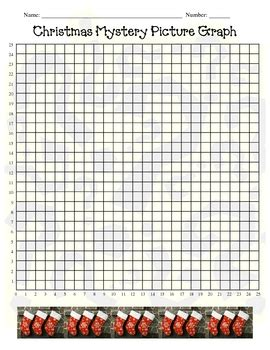 santa christmas holiday coordinate graphing ordered