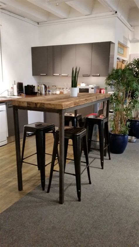 reclaimed industrial chic 6 8 seater poseur bar table