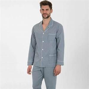 Pyjama Homme La Halle : pyjama homme long h ritage eminence coton vichy vichy ~ Melissatoandfro.com Idées de Décoration