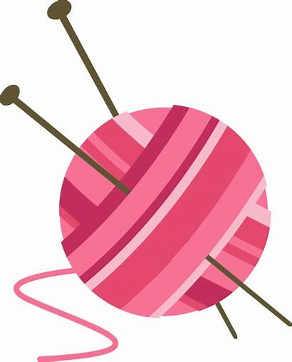 Knitting Transparent Clipart Yarn Ball Pluspng Needles