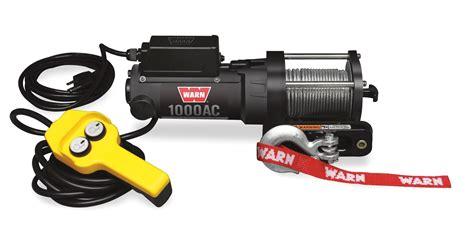 1000 ac 120v electric utility winch warn industries go prepared