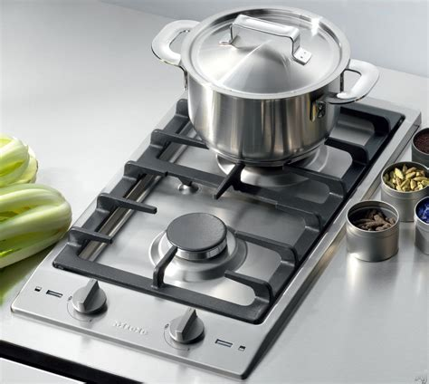 small cook top miele cs10121 12 quot gas cooktop with 2 sealed burners 10 230 btu high speed rear burner 6 800