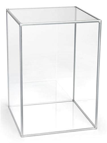 glass cube display 14 quot acrylic square display cube countertop use 1226