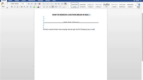 How To Delete A Section Break In Word On Mac (macbook Pro