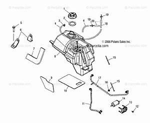 Polaris Atv 2006 Oem Parts Diagram For Fuel Tank   Ax  Ay  Az