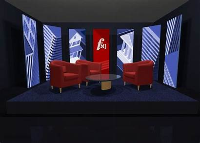 Tv Stage Studio Simple Sets Furniture Pop