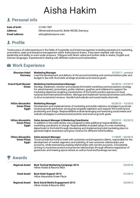 Brand Marketing Manager Resume Format by Resume Exles By Real Sheraton Hotel Marketing