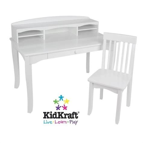 kids white desk with hutch kidkraft avalon kids desk with hutch and chair in white