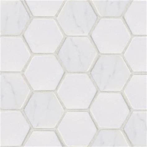 home depot hexagon marble tile jeffrey court statuario hex mosaic 12 in x 12 in marble