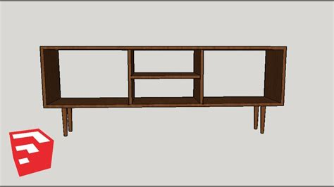 sketchup furniture tutorial mid century record player