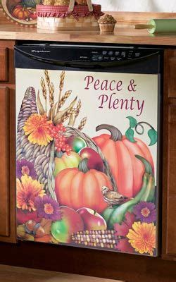 autumn decorative dishwasher magnet fall decor