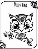 Owl Coloring Owls Pages Sheet Printable Babies Patterns Getcoloringpages sketch template
