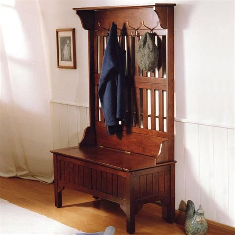 Entryway Hall Tree Bench To Rest And Storage — Home Design