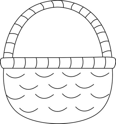 Black And White Easter Basket Clip Art  Black And White