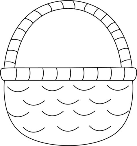 The most common empty easter basket material is fabric. Basket clipart outline, Basket outline Transparent FREE ...