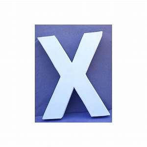 Lettre En Carton À Peindre : lettre 3d x 12cm maison pratic boutique pour vos loisirs creatifs et votre deco ~ Nature-et-papiers.com Idées de Décoration