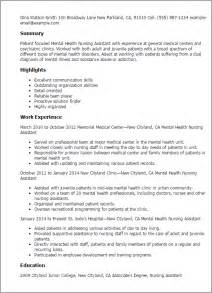 behavioral health paraprofessional description for resume professional mental health nursing assistant templates to showcase your talent myperfectresume