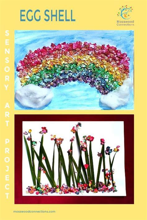 egg shell sensory art project art projects  adults