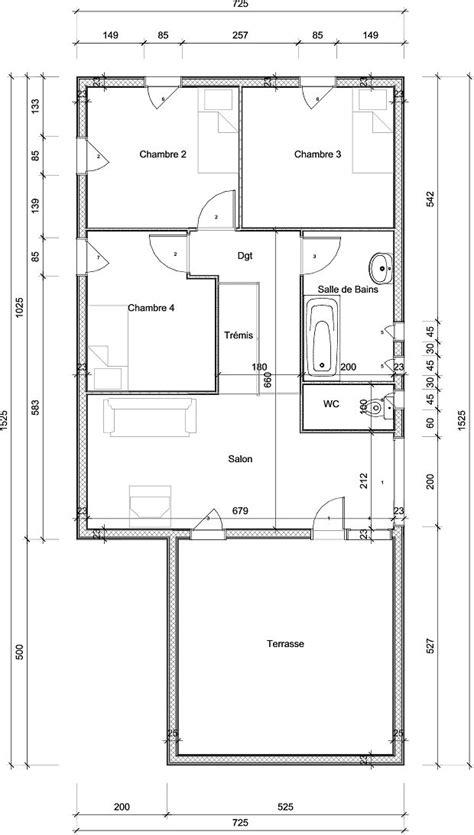 plan maison plain pied 3 chambres 100m2 modèles de maisons à ossature bois bureau d 39 étude aerc