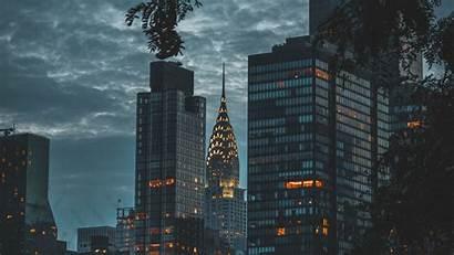 Architecture Twilight Night York 4k Usa Background
