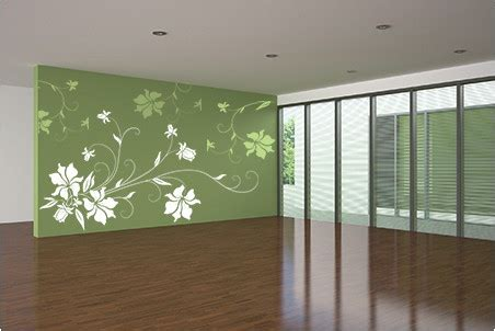 fabulously stunning flower wall stencil ideas  painting