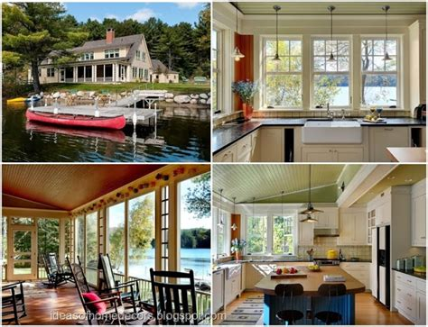 Lakeside Summer Home by Beautiful Lakeside Home Decorating Ideas