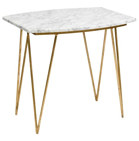 gold and marble end table piazza hollywood regency white marble gold side table