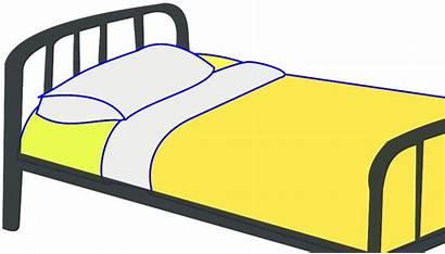 Bed Clipart Bedroom Cliparts Clip Cartoon Single