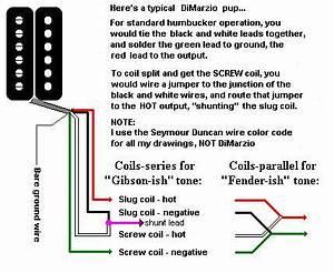 Gibson Humbucker Wiring Diagram
