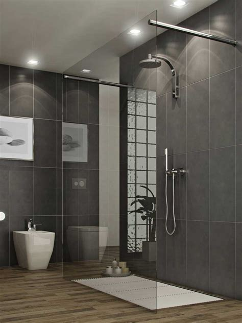 bathroom simple  modern style glass shower stall