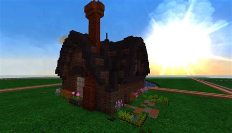 cute rustic farm house minecraft project