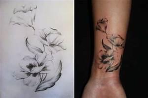 24+ Black And White Poppy Tattoos