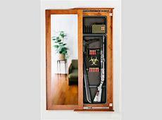 Hidden Gun Cabinet Mirror WoodWorking Projects & Plans
