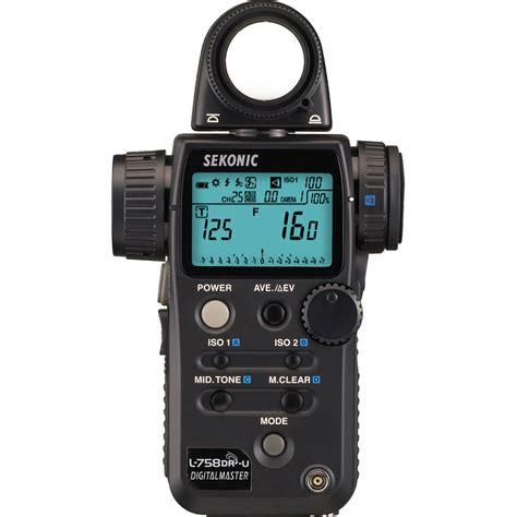 sekonic light meter sekonic l 758dr u digitalmaster light meter 401 756 b h photo